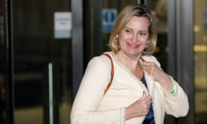 Amber Rudd leaving BBC Broadcasting House after Tuesday's televised debate.