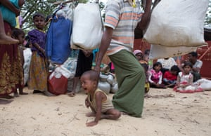 More than 600,000 people have fled violence in neighbouring Myanmar since August