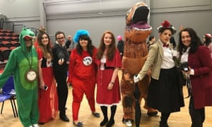 Towers School's World Book Day- the English department At Towers School, we see the importance of reading and use World Book Day as a time to celebrate everything Literature! Special World Book Day lessons are taught to Years 7-8 and all staff dress up- even the principal!