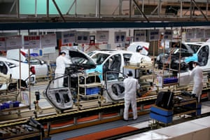 A production line inside the Dongfeng Honda factory