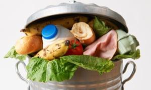 A bin full of food.