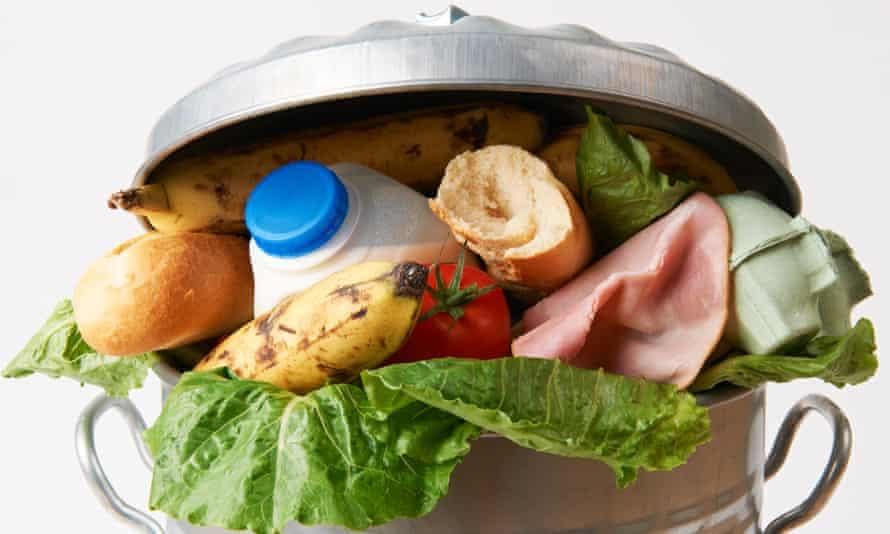 Food in a bin.