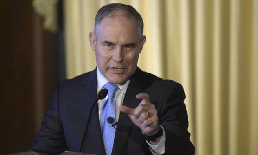 Climate change sceptic and now head of the Environmental Protection Agency, Scott Pruitt.