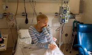 Young woman undergoing chemotherapy