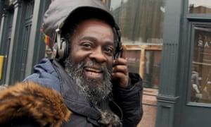 Steve Burnett-Martin, better known as Blacker Dread, in Molly Dineen's film Being Blacker.