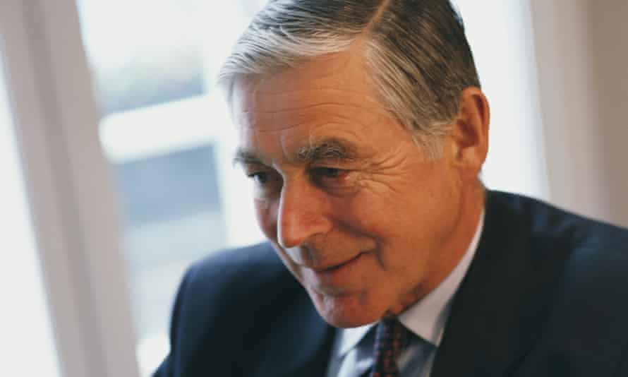 Sir David Barnes in his office in London, 2000, the year after the merger that formed AstraZeneca.