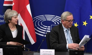 Jean-Claude Juncker and Theresa May, 11 March.