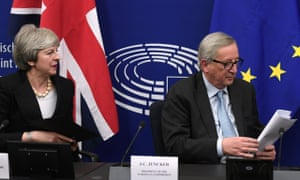 Monday: Theresa May with EU's Jean-Claude Juncker