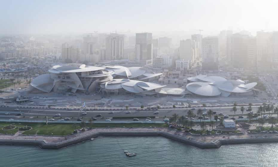 'Mysteries of the desert': Jean Nouvel's National Museum of Qatar nears completion.