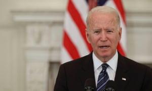 Joe Biden speaks on his administration's plans to address crime and gun trafficking.