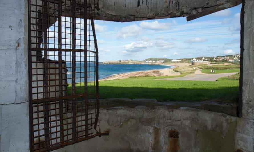 View of coast from  bunker on Alderney, Channels Islands