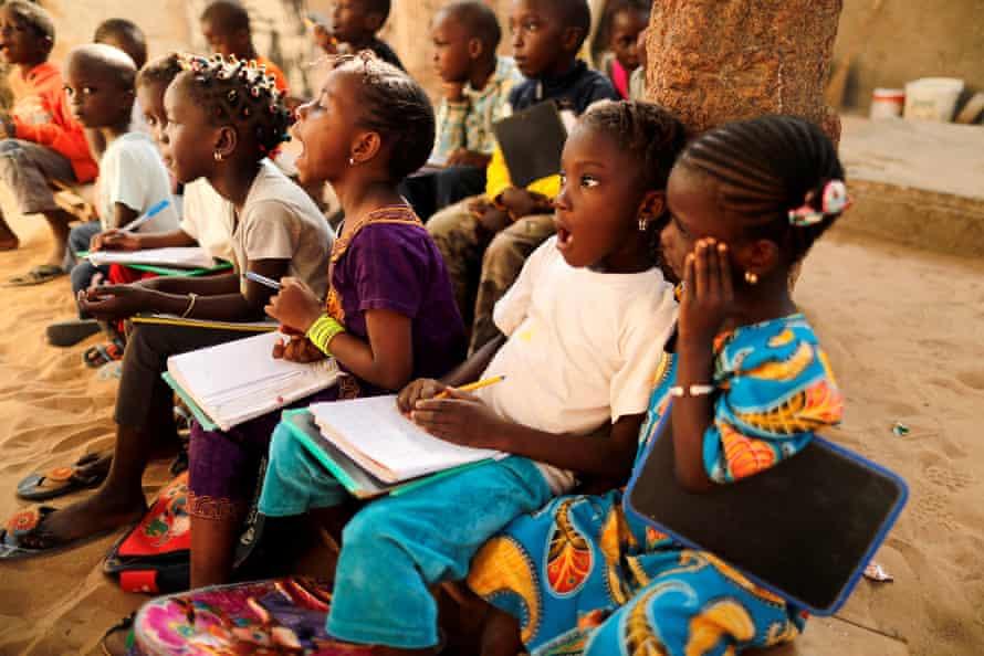 Schoolchildren in the Ouakam neighbourhood of Dakar, Senegal.