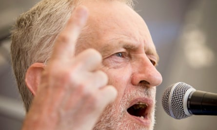Jeremy Corbyn addresses a Labour leadership campaign rally in Hull.