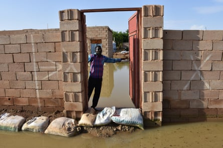 A flooded area in Khartoum's Omdurman district after Nile's water level rose due to heavy rainfall, 12 September.