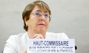New UN high commissioner for human rights Michelle Bachelet.