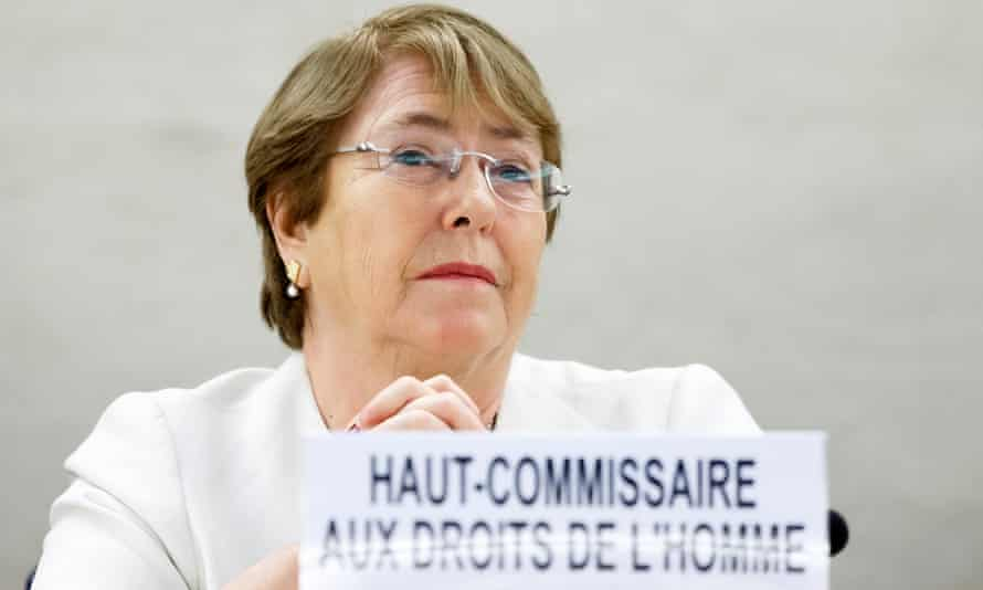 UN high commissioner for human rights, Michelle Bachelet, in Geneva.