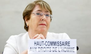 UN High Commissioner for Human Rights, Chilean Michelle Bachelet.