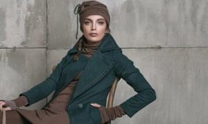 A model wear a design by Farnaz Abdoli
