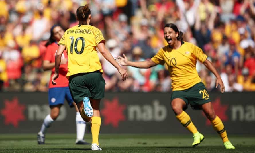 Emily van Egmond of Australia celebrates