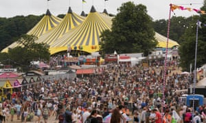 Festivalgoers at the Latitude festival in Henham Park, Southwold, Suffolk, on Friday. It is the first major festival to take place in England since most of the remaining Covid restrictions were lifted on Monday