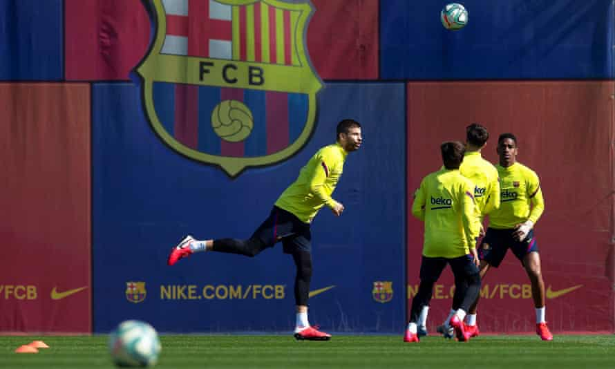 Barcelona training on 6 March