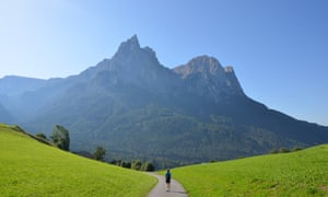 Walking on the Seiser Alm, Trentino.