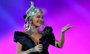 Rita Ora … had to apologise on Twitter.