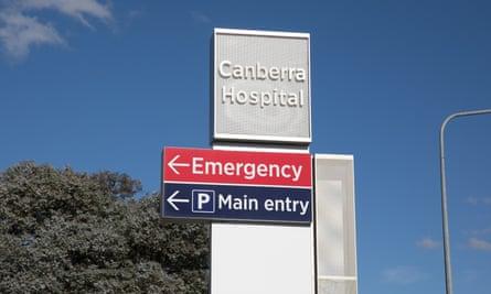 Canberra hospital sign