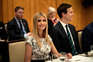 JAPAN-G20-SUMMITAdvisory to the President Ivanka Trump and Senior Advisor Jared Kushner wait for a dinner with US President Donald Trump and Australia's Prime Minister Scott Morrison at the Imperial Hotel in Osaka on June 27, 2019. (Photo by Brendan Smialowski / AFP)BRENDAN SMIALOWSKI/AFP/Getty Images
