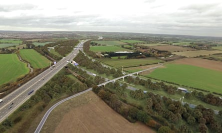 An artist's impression of the Lower Thames Crossing's junction with the M25 in Essex.