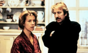 With Alan Rickman in Truly, Madly, Deeply.