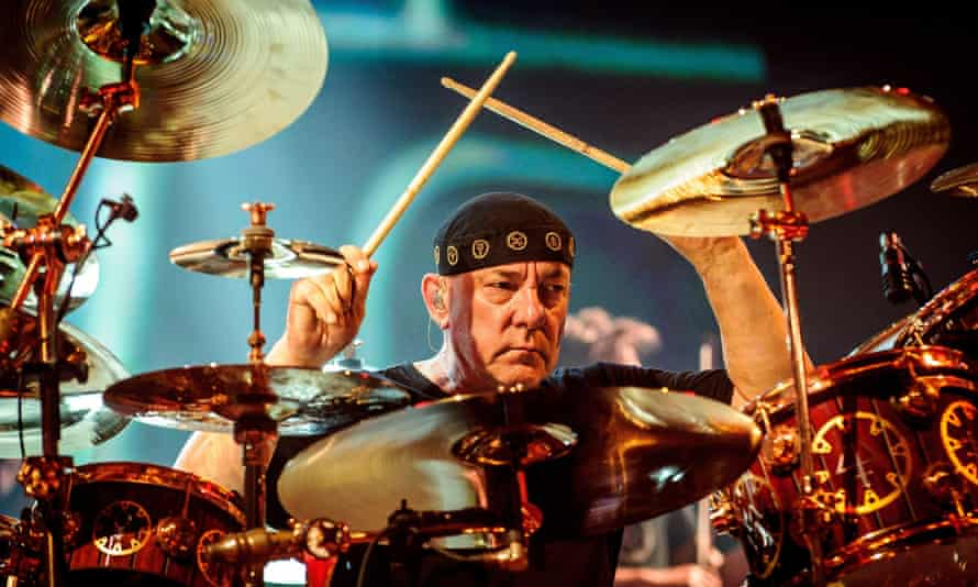 Neil Peart performing with Rush in Hamilton, Canada, in 2013.