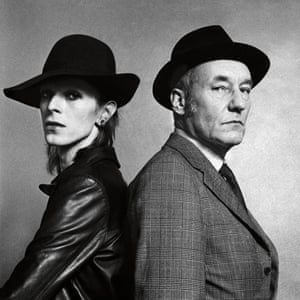 'I'm bringing someone special' … with William Burroughs for Rolling Stone in February, 1974.