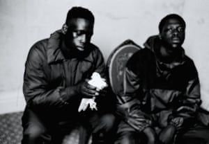 Up and coming British-Gambian rapper Pa Salieu and brother Tamsir, photographed by Gabriel Moses.