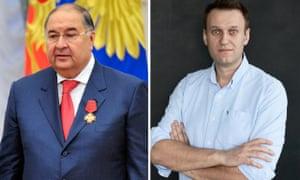 Alisher Usmanov and Alexei Navalny.