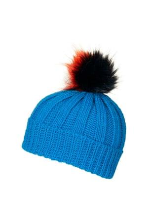 £14, topshop.com. Pompom beanie hat.