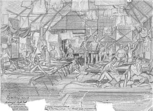 Kranji Dysentery Ward by Bill Norways.