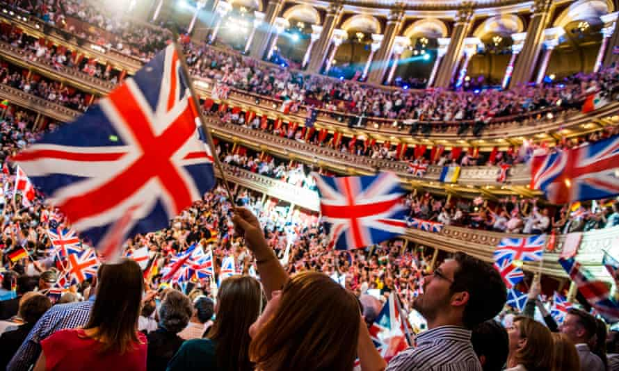 The BBC Last Night of the Proms at the Royal Albert Hall in London.