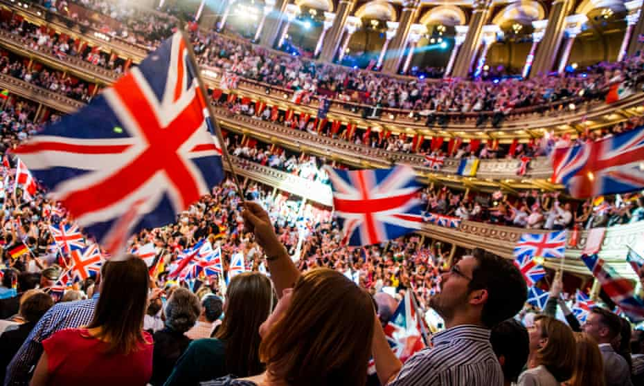The audience getting into the spirit of things at the 2014 Last Night of the Proms