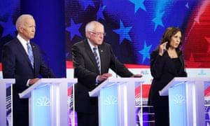 Biden, Sanders, Harris.