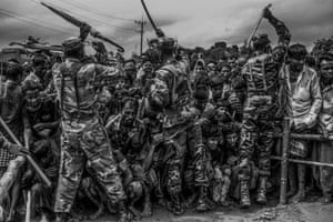 Mohd Samsul Mohd Said: Life inside the camp,1st Place: Current Affairs and News categoryBangladesh military control the situation, as Rohingya refugees wait to receive food aid at the distribution point in Balukhali refugee camp, on September 28, 2017.