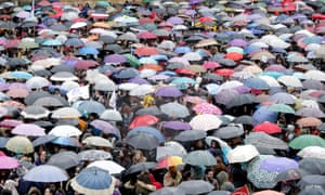 An International Women's Day rally at Obradoiro square in Santiago de Compostela, Spain.