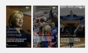 Screens from the Campaign Minute