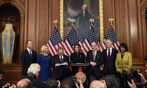 Democratic members of Congress spoke from Capitol Hill following the impeachment vote.