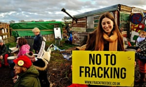 Anti-fracking protests in Upton, Cheshire