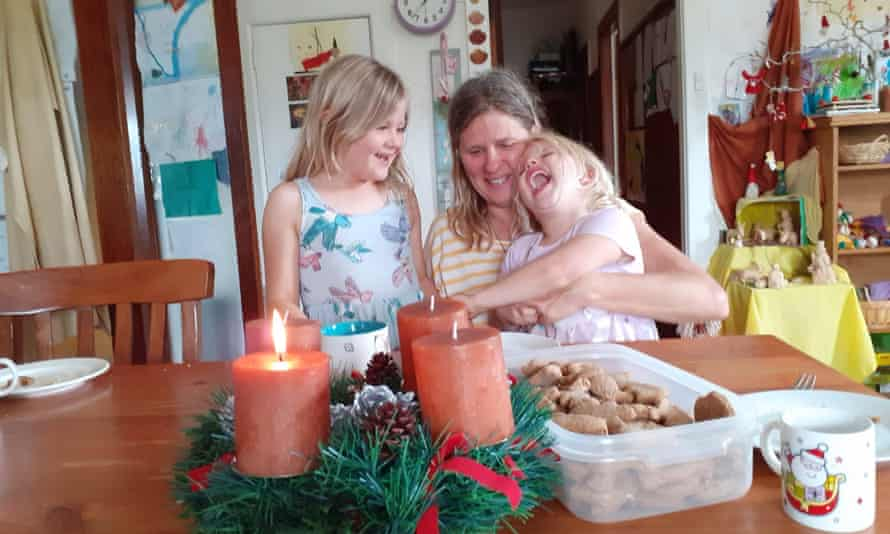 Mona Grebing and her two children travelled to Germany in July 2020 to care for her gravely ill mother