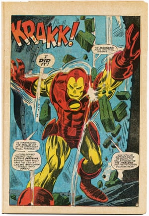 """Tales of Suspense No. 86. Interiors, """"Death Duel for the Life of Happy Hogan!""""; script, Stan Lee; pencils, Gene Colan; inks, Frank Giacoia; February 1967."""