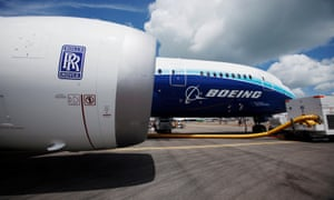 Rolls-Royce Trent 1000 engines are used on Boeing's 787 Dreamliners