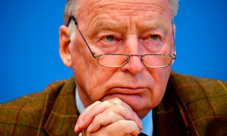 Alexander Gauland, leader of the anti-immigrant AfD party