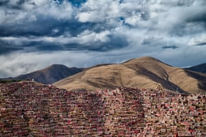 Larung Gar, home of 40,000 Buddhist monks in Sichuan province, China